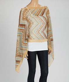 Natural Zigzag Seven-Way Convertible Scarf by Kokomo #zulily #zulilyfinds