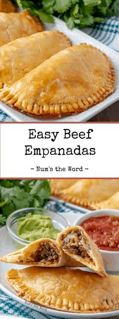 Easy Beef Empanadas This easy recipe for empanadas uses ground beef, pie crust and cheese. So easyYou can find Recipes with ground beef and more on our website.Easy Beef Empanadas This easy recipe for empanadas uses ground beef, pie crus. Beef Empanadas, Cheese Empanadas Recipe, Easy Empanada Recipe, Spanish Empanadas, Ground Beef Recipes For Dinner, Recipes Dinner, Ground Beef Recepies, Easy Ground Beef Meals, Gastronomia