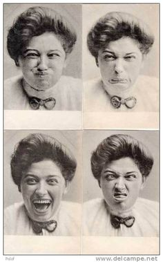grimaces - Delcampe.fr Time Pictures, Old Pictures, Old Photos, Excited Pictures, Vintage Photos Women, Antique Photos, Vintage Pictures, Silly Faces, Funny Faces