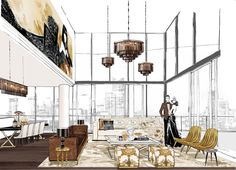 BIG ANNOUNCEMENT! I'm so excited to reveal that I've been working on my first big interiors project with Mirvac. It's a luxury penthouse interior for Array at Yarra's Edge. Picture the ultimate abode that a Fashion Illustrator could dream up! Not only will it be filled with bespoke items that I've created just for this penthouse, I've also worked closely with some of the worlds most luxurious brands, Versace, Fendi, Roberto Cavalli, Tom Ford..to create custom pieces throughout. The ultimate…