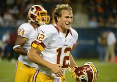 Former MSU quarterback Kirk Cousins completed 18 of 23 passes for 264 yards and three touchdowns today -his birthday- in a backup roll for the Washington Redskins. Kirk Cousins, Washington Redskins, New Books, Football, American, Sports, 24th Birthday, Shopping, Yards