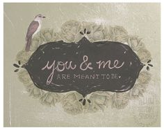 You and Me are meant to be 8.5″ x 11″ collage illustration print