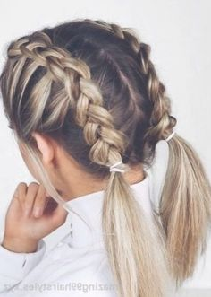 Braided Hairstyles For Teens, Super Easy Hairstyles, Cool Braid Hairstyles, Cute Hairstyles For Medium Hair, Hairstyle Ideas, Pigtail Hairstyles, Wedding Hairstyles, Different Hairstyles, Hairstyles Pictures