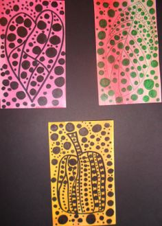 LOTS of project ideas influenced by artist Yayoi Kusama