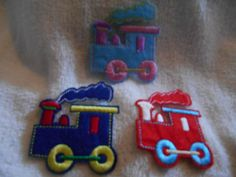 train embroided patch motif badge