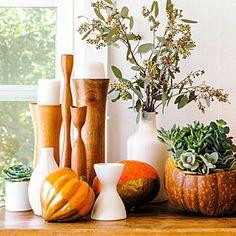 15 easy pumpkin arrangements | Gourds with glitz | Sunset.com