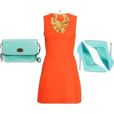 A fashion look from June 2013 featuring orange flare dress, stiletto heel pumps and hand bags. Browse and shop related looks. Pumps Heels, Stiletto Heels, Flare Dress, Fashion Looks, Dresses For Work, Polyvore, Shopping, High Heel, Spike Heels