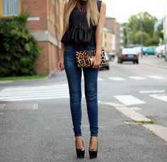 jean and black