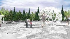 MÉRISTÈME au Festival international des jardins 2014 au Jardin de Métis, Grand Métis, Québec; par le collectif Châssi, Image : Châssi. Source : v2com.