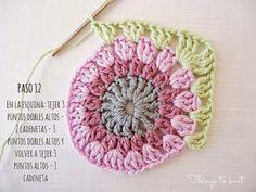 Tutorial #40: Paso a Paso: Aprende a hacer Granny Squares para Manta | CTejidas [Crochet y Dos Agujas]