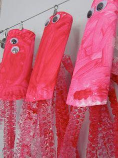ocean toddler crafts, bubbl wrap, sea, preschool stuff, joy weari
