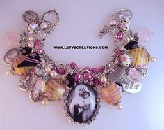 Catholic Virgin Mary, Saints Religious Medals Charm Bracelet www.letyscreations.com
