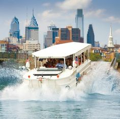 Tour the city by land and river with Philadelphia's Ride the Ducks tours. (Pro tip: for online sales only, save $10 on adult tickets and $2 on kid tickets when you select and book the first ride of the day, Tuesday through Friday.)