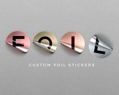 our foil stickers for any need to call attention and add that little extra touch of - Custom Clear Stickers