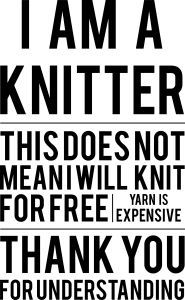 I AM A KNITTER Tee by makeone