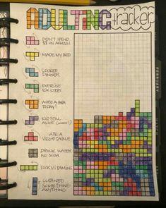 Adulting tracker tetris habits
