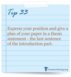 making a thesis statement for a persuasive essay