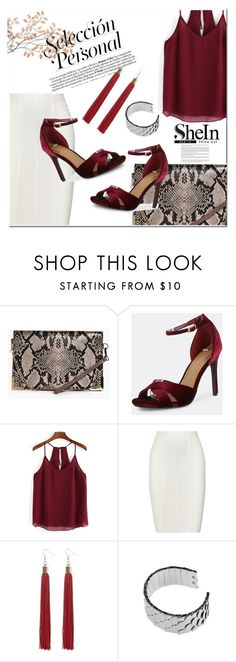 """sheIn 3/10 :)"" by leagoo ❤ liked on Polyvore featuring Boohoo, Hervé Léger and River Island"