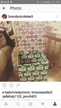 Grab a large brown box, cut off the top flaps, and wrap them like a box. These were great for my neighbor Jaces toy drive. Christmas Toys, Xmas, Donation Boxes, Toys For Tots, Presents, Community, Friends, Brown, Places