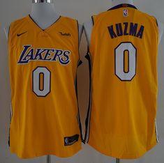 7eee8b0874b 17-18 New Lakers 0 Kyle Kuzma Yellow Nike Player size S M L XL XXL XXXL