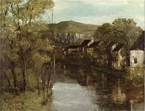 Trademark Art - The Reflection of Ornans by Gustave Courbet - Green
