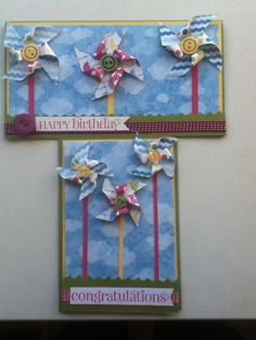 Colorful birthday card - stampin up paper
