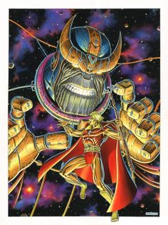 Adam Warlock vs Thanos - Giorgio Comolo
