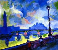 "urgetocreate: Andre Derain, ""The Thames, Westminster Bridge"", 1906"