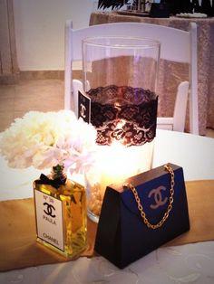 Centro de mesa tema Chanel