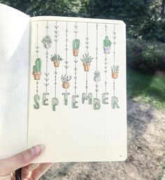 september bullet journal - Brenda O. hello september bullet journal -hello september bullet journal - Brenda O. hello september bullet journal - ig beautiful bullet journal cover incredible cactus spreads for May Bullet Journal Cover Page, Bullet Journal Aesthetic, Bullet Journal Notebook, Bullet Journal Spread, Journal Covers, Bullet Journal September Cover, Bullet Journal Ideas How To Start A, Monthly Bullet Journal Layout, Bullet Journal Inspo