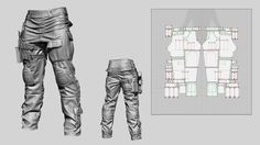 Hello Gentlemen, its been a while. This is my latest piece of work. I hope you like it. Tactical Pants, Tactical Clothing, Clothing Patterns, Sewing Patterns, Clothing Templates, Free Baby Patterns, Modeling Tips, Robot Concept Art, Game Design