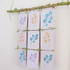 All you need is a stamp pad and some leaves to make gorgeous nature art. A great summer project for the kids too!