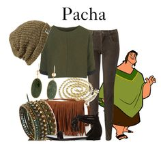 """""""Pacha"""" by disneyandsuch ❤ liked on Polyvore featuring Pacha, Jigsaw, Topshop, Forever 21, NAKAMOL, Raye, Madewell, disney, theemperorsnewgroove and WhereIsMySuperSuit"""