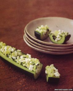 This quick, refreshing bite blends feta cheese and oregano with cucumber.