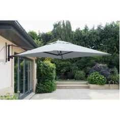 Simple and easy to use. The Garden Must Haves Wall Mounted Cantilever Parasol will make a practical addition to any garden. Made from a sturdy aluminium frame and polyester canopy the parasol is durable, resistant to fading and easy to clean. Cantilever Parasol, Parasol Base, Garden Parasols, Garden Canopy, Outdoor Living, Outdoor Decor, Indoor Outdoor, Outdoor Ideas, Outdoor Seating