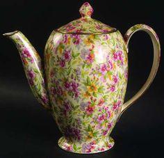 Coffee pot by Royal Winton by Estelle pattern