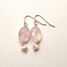 Pastel Pink Earrings Rose Quartz Earrings  by PreciousSweetThings, $18.00