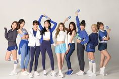 Twice - Jihyo/Tzuyu/Jeongyeon/Nayeon/Dahyun/Sana/Momo/Chaeyoung/Mina Kpop Girl Groups, Korean Girl Groups, Kpop Girls, Twice Dahyun, Tzuyu Twice, Shy Shy Shy, Twice Names, Divas, Pocari Sweat