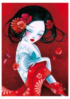 """Seducción"", de la pintora e ilustradora de Bélgica LadySybile."