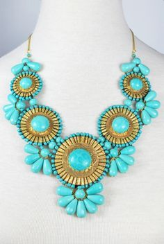 Roman Empire Necklace in Turquoise