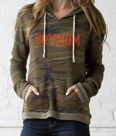Boymom Fleece Hoodie - Camo. Boymom designs - apparel for moms of boys. www.boymomdesigns.com