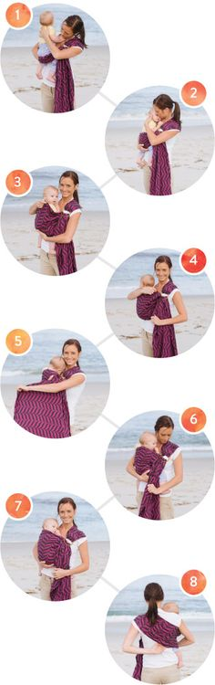 How to use a Ring Sling - Baby Tula Ring Slings - Tummy to Tummy (Front Carry) or Hip Carry Instructions