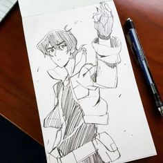 """misterunagi: """"Feels great to be able to post drawings of voltron characters now! #keith #voltronlegendarydefender #voltron #art #drawing #sketch #doodle """""""