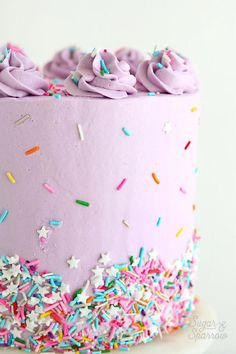 funfetti cake by sugar and sparrow