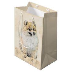 #customized - #Pomeranian (Orange) Medium Gift Bag