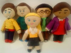 Muñecos de fieltro de The Big Bang Theory