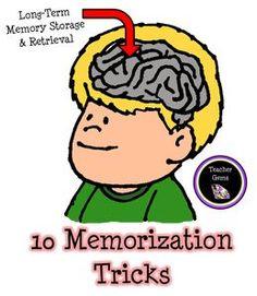 Memorization Tips and Tricks