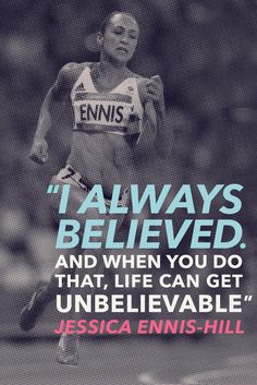 """""""I always believed. And when you do that, life can get unbelievable"""" Jessica Ennis-Hill See how we can help you to find the right business to start your life. Athlete Motivation, Athlete Quotes, Motivation Quotes, Workout Memes, Gym Memes, Fitness Memes, Boxing Workout, John Maxwell, Life Quotes Love"""