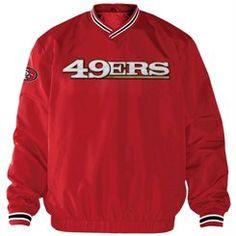 Men's Scarlet San Francisco 49ers Stop and Go Cross Over Crew Sweatshirt