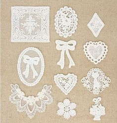 10 Pcs Lace Fabric Doily Trim Lace Fabric Trim by JolinTsai
